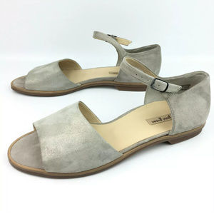 Paul Green Suede Ankle Strap Flat Sandals